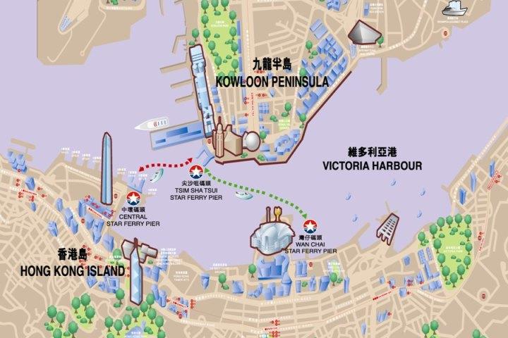 map HK-天星小輪 承載港人來往兩岸 欣賞維多利亞港美景