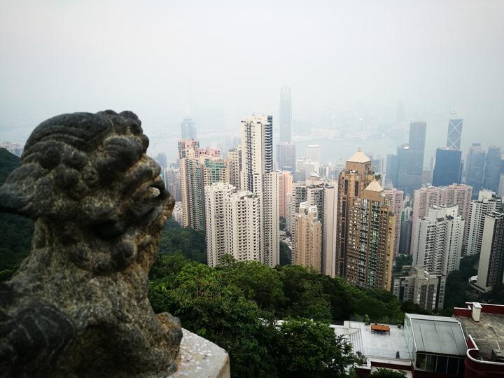 thepeak08 HK-擁擠的太平山The Peak 太平山夜景香港城市的擁擠