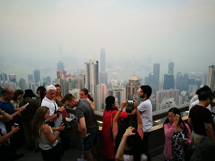 thepeak09 HK-擁擠的太平山The Peak 太平山夜景香港城市的擁擠