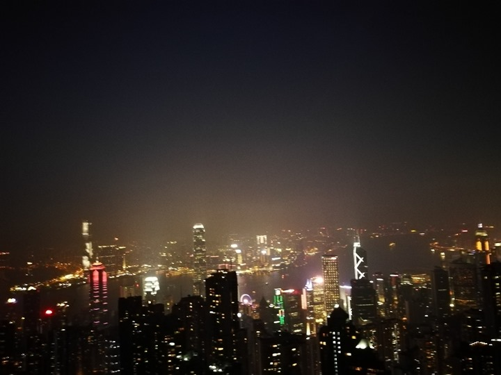 thepeak23 HK-擁擠的太平山The Peak 太平山夜景香港城市的擁擠