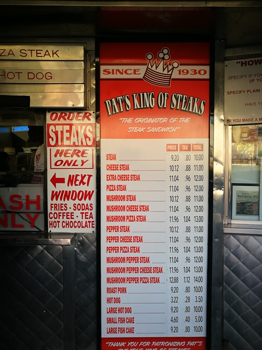 cheesestakes02 Philadelphia-費城特色小吃Cheesestake大比拚 Pat's King of Steaks VS. Geno's Stakes超飽足