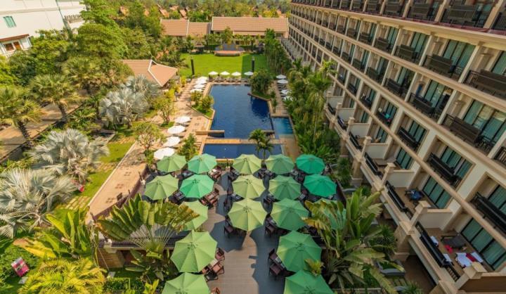 angkormiracle Siem Reap-暹粒Angkor Miracle Reflection Club中韓大媽過境無敵吵雜的早餐