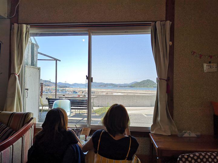 konichiwa06 Naoshima-Cafe Konichiwa直島本村港旁 可愛海景咖啡館