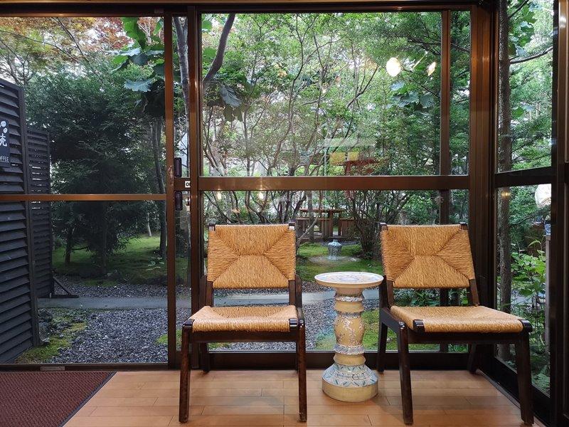 maruyama13 Karuizawa-來喝冠軍咖啡 丸山咖啡輕井澤本店 綠意盎然的林間小屋 環境佳咖啡香