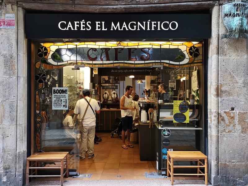 cafeselmagnifico01 Barcelona-Cafes El Magnifico巴塞隆納舊城區小店的一杯拿鐵