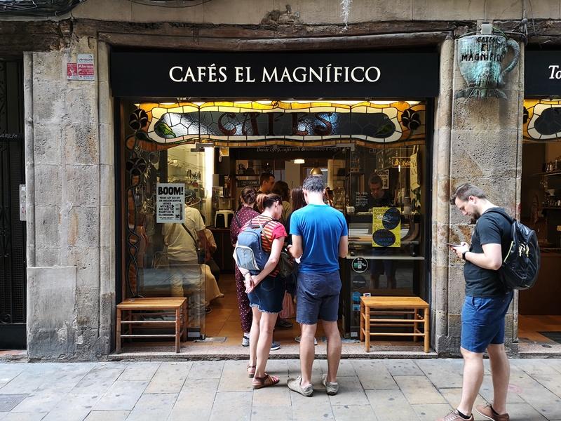 cafeselmagnifico02 Barcelona-Cafes El Magnifico巴塞隆納舊城區小店的一杯拿鐵