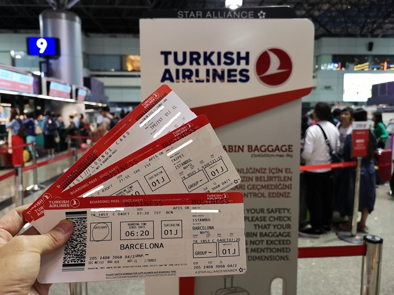 flytk025380103 201810台北伊斯坦堡巴塞隆納 TK025商務艙飛行