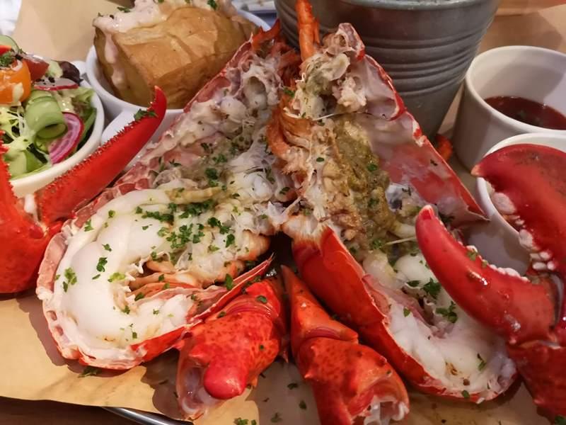 wayne13 中山-Wayne's Boston美式餐廳的海陸大餐龍蝦彈牙肋眼軟嫩 意外的耶誕大餐