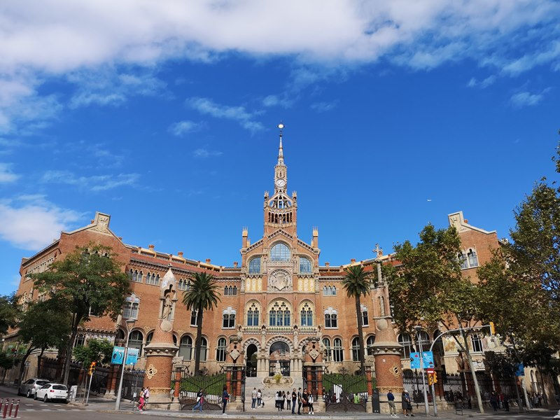 barcelonasantpau01 Barcelona-聖十字聖保羅醫院 巴塞隆納現在主義建築三傑之多明尼克...世界文化遺產