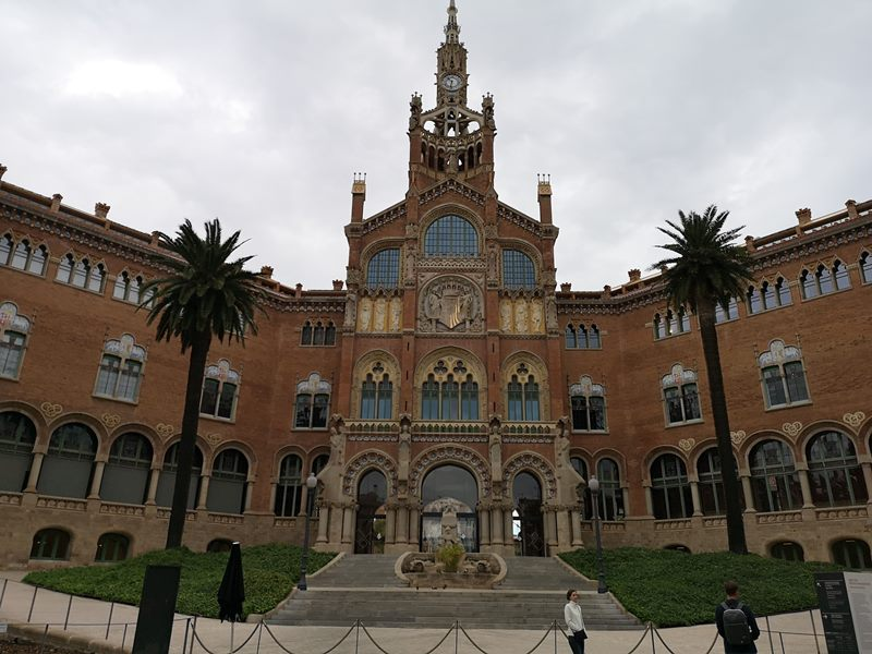 barcelonasantpau03 Barcelona-聖十字聖保羅醫院 巴塞隆納現在主義建築三傑之多明尼克...世界文化遺產