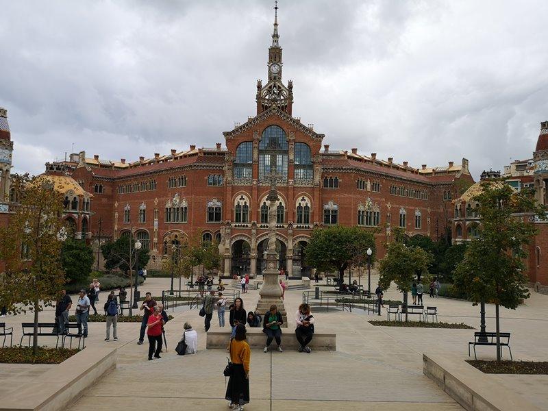 barcelonasantpau22 Barcelona-聖十字聖保羅醫院 巴塞隆納現在主義建築三傑之多明尼克...世界文化遺產