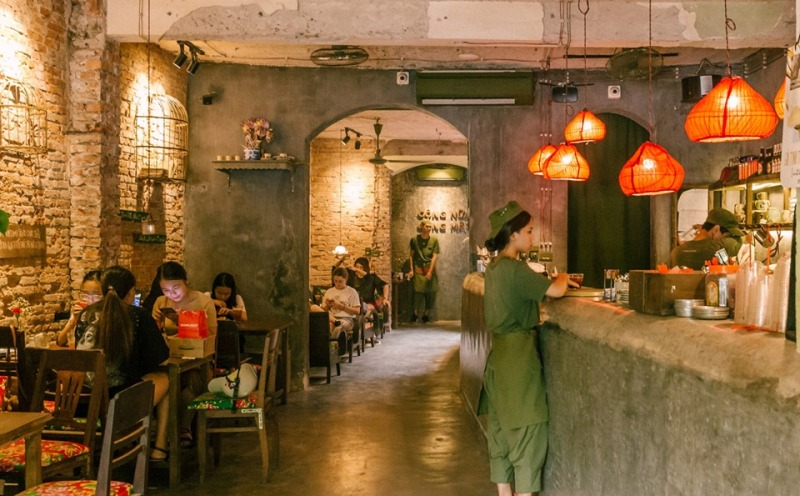 congcaphee16 Hanoi-河內Cong Caphe復古網紅店 越共咖啡