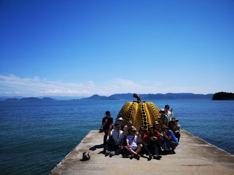 pumpkin09 Naoshima-黃南瓜紅南瓜 草間彌生的點點世界 快來直島找南瓜