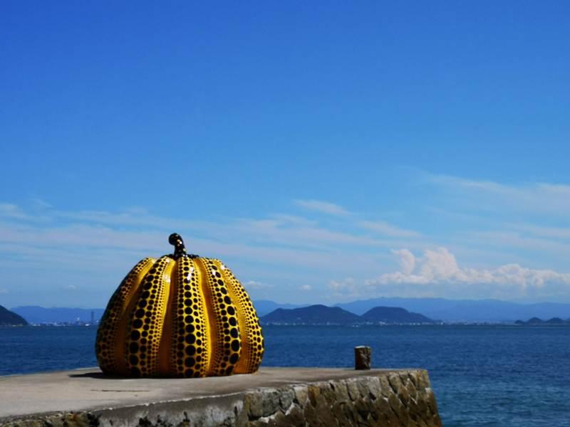 pumpkin13 Naoshima-黃南瓜紅南瓜 草間彌生的點點世界 快來直島找南瓜