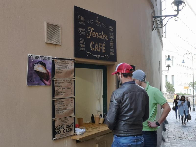fenster01 Vienna-Fenster Cafe維也納小巷中的咖啡外帶BAR 簡單好喝