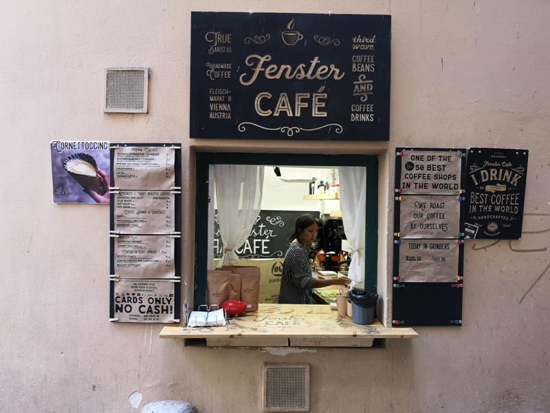 fenster02 Vienna-Fenster Cafe維也納小巷中的咖啡外帶BAR 簡單好喝