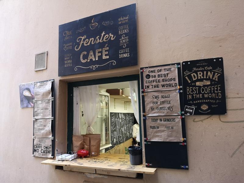 fenster04 Vienna-Fenster Cafe維也納小巷中的咖啡外帶BAR 簡單好喝