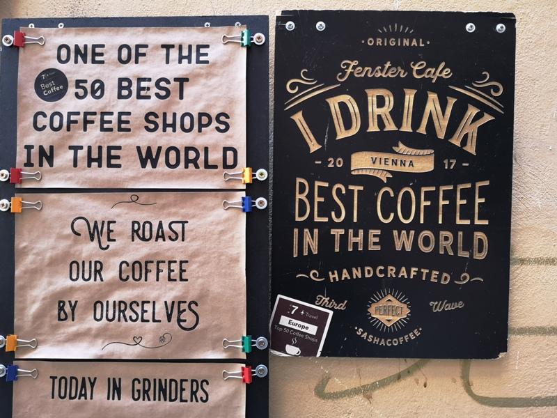 fenster05 Vienna-Fenster Cafe維也納小巷中的咖啡外帶BAR 簡單好喝