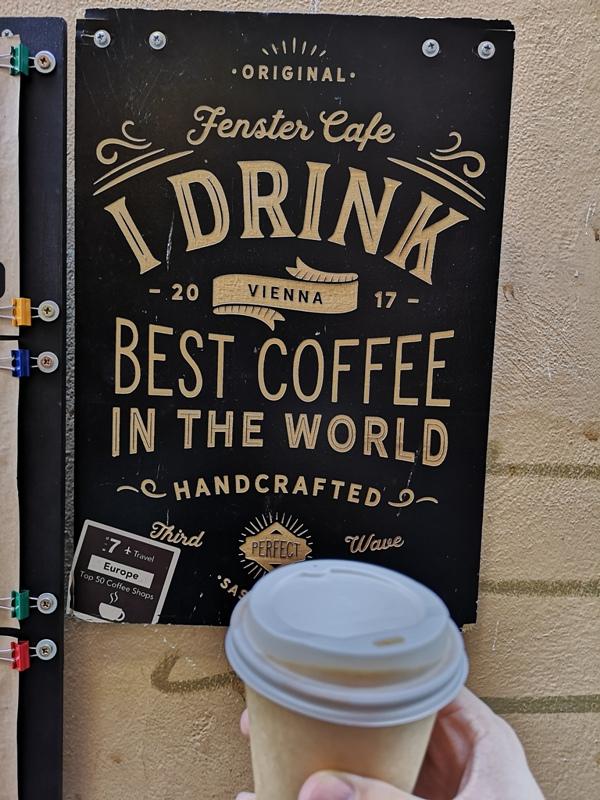 fenster10 Vienna-Fenster Cafe維也納小巷中的咖啡外帶BAR 簡單好喝