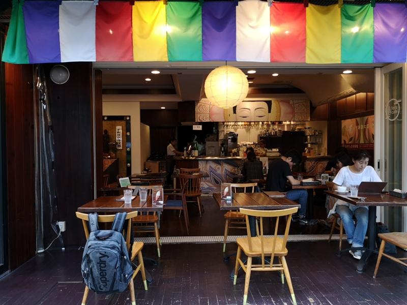 teracafe07 Daikanyama-代官山Tera Cafe幡旗彩虹風 和尚坐鎮另類風格咖啡館
