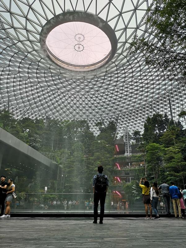 jewelchangiiii18 Singapore-Jewel Changi星耀樟宜 城市中的森林谷 綠意中人工瀑布雨漩渦超吸精 新加坡樟宜機場必訪