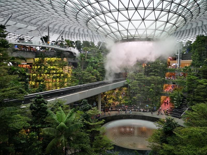 jewelchangiiii22 Singapore-Jewel Changi星耀樟宜 城市中的森林谷 綠意中人工瀑布雨漩渦超吸精 新加坡樟宜機場必訪