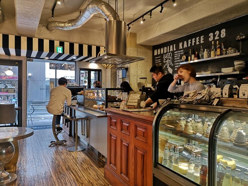 mondialcoffee06 Osaka-Mondial Kaffee大阪難波附近美式復古風咖啡館 果真冠軍的拉花啊
