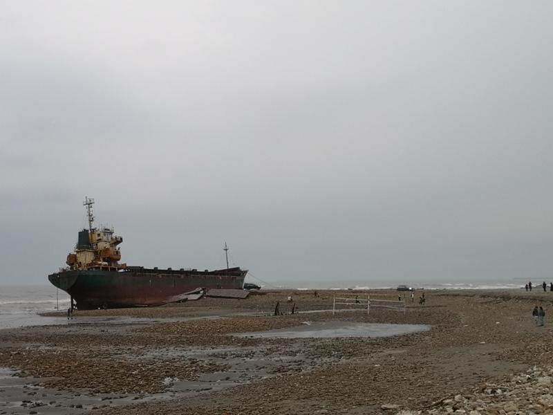 strandedship02 大園-大船不入港 擱淺後厝港 宏都拉斯籍振豐號