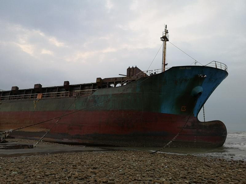 strandedship05 大園-大船不入港 擱淺後厝港 宏都拉斯籍振豐號