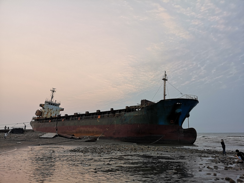 strandedship08 大園-大船不入港 擱淺後厝港 宏都拉斯籍振豐號