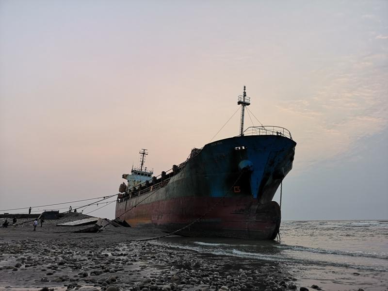 strandedship10 大園-大船不入港 擱淺後厝港 宏都拉斯籍振豐號