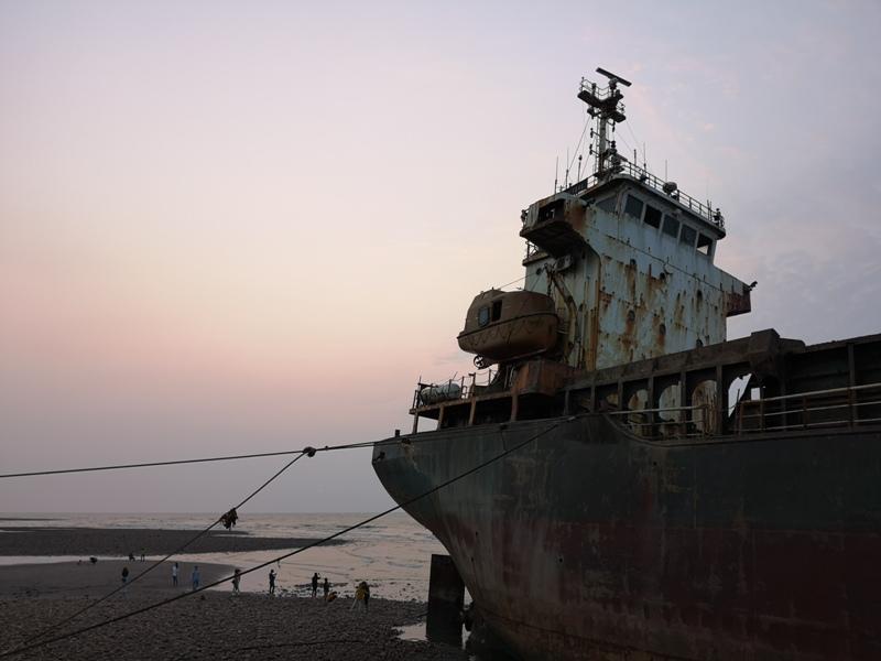 strandedship11 大園-大船不入港 擱淺後厝港 宏都拉斯籍振豐號