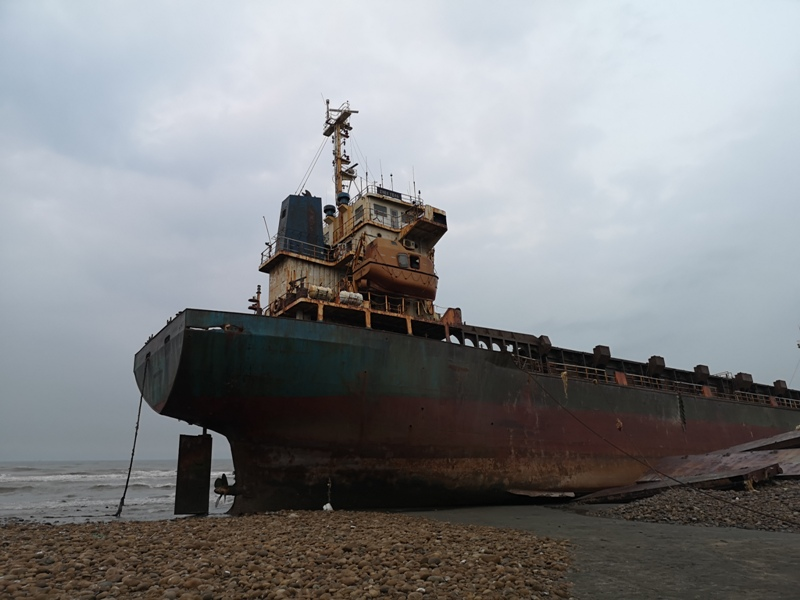 strandedship12 大園-大船不入港 擱淺後厝港 宏都拉斯籍振豐號