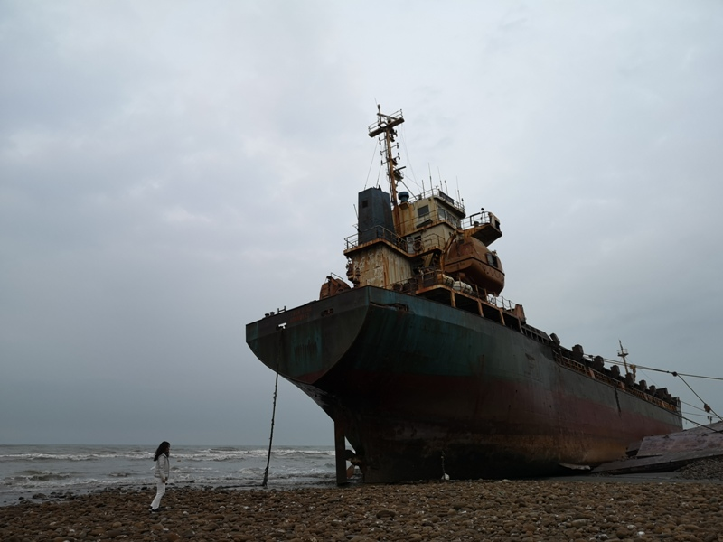 strandedship13 大園-大船不入港 擱淺後厝港 宏都拉斯籍振豐號