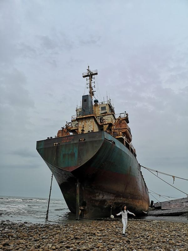 strandedship14 大園-大船不入港 擱淺後厝港 宏都拉斯籍振豐號