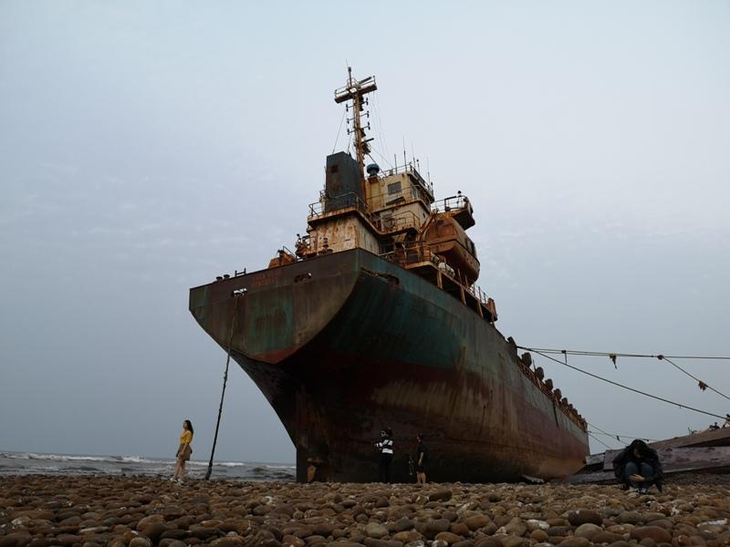 strandedship16 大園-大船不入港 擱淺後厝港 宏都拉斯籍振豐號