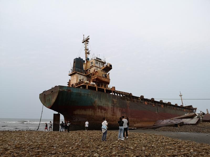 strandedship17 大園-大船不入港 擱淺後厝港 宏都拉斯籍振豐號