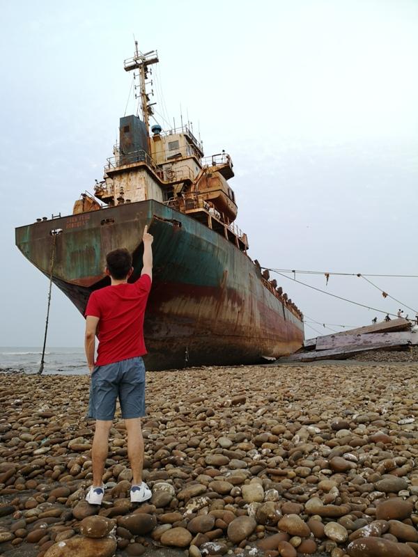 strandedship18 大園-大船不入港 擱淺後厝港 宏都拉斯籍振豐號