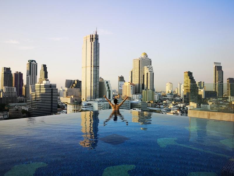 surawongsepool0114 Bangkok-曼谷Marriott Hotel The Surawongse太超值...完美住宿大套房網美游池