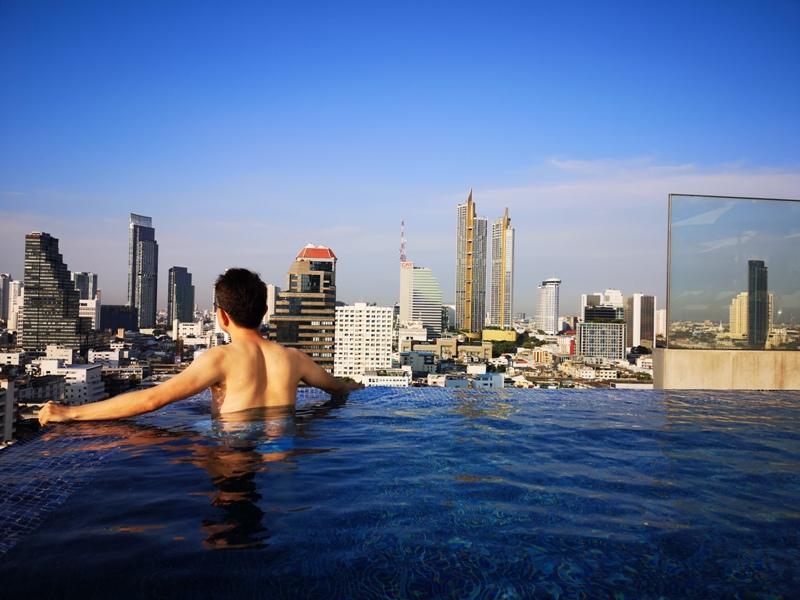 surawongsepool0115 Bangkok-曼谷Marriott Hotel The Surawongse太超值...完美住宿大套房網美游池