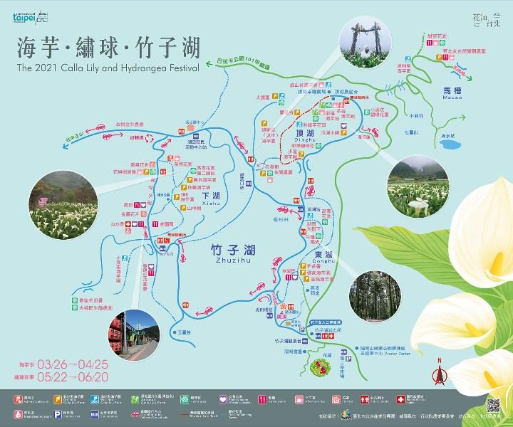 chuzihumapp02 陽明山-竹子湖 春天最美的白色浪漫 滿山谷的海芋香