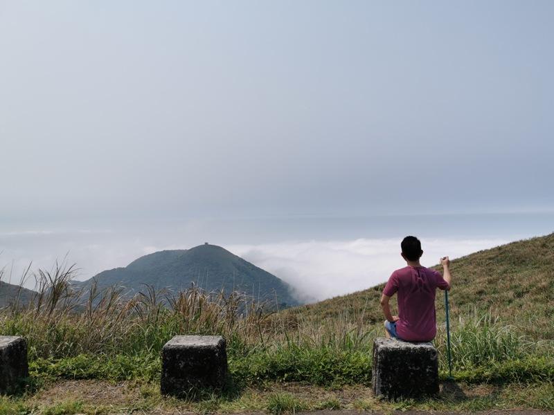 datung36 陽明山-大屯山 芒草箭竹 捕捉美麗的雲海
